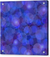 Purple And Blue Abstract Acrylic Print by Frank Tschakert