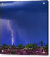 Purple Desert Storm Acrylic Print by James BO  Insogna