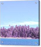 Purple Island Acrylic Print by Barbara Marcus