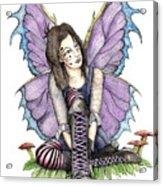 Purple Laces Acrylic Print by Preston Shupp
