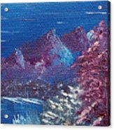 Purple Mountain Landscape Acrylic Print by Jera Sky