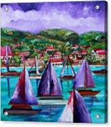 Purple Skies Over St. John Acrylic Print by Patti Schermerhorn