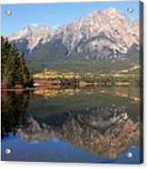 Pyramid Mountain And Pyramid Lake 2 Acrylic Print by Larry Ricker