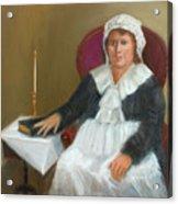 Quaker Lady Acrylic Print by Marjorie Harris