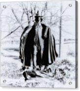Quaker Pilgrim Acrylic Print by Bill Cannon