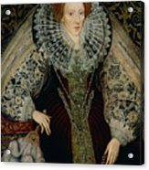 Queen Elizabeth I Acrylic Print by John the Younger Bettes