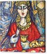 Queen Esther Acrylic Print by Rae Chichilnitsky