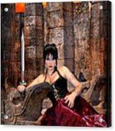 queen of Swords Acrylic Print by Tammy Wetzel