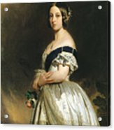 Queen Victoria Acrylic Print by Franz Xaver Winterhalter