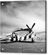 Quick Silver P-51  Acrylic Print by Peter Chilelli