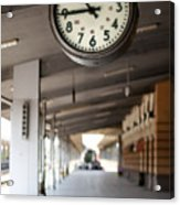 Railway Station Clock Acrylic Print by Deyan Georgiev