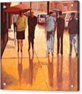 Rain In Manhattan Number Eighteen Acrylic Print by Tate Hamilton