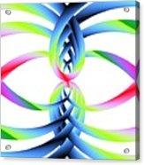 Rainbow Loops Acrylic Print by Michael Skinner