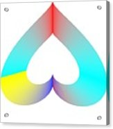 Rainbow Sos Acrylic Print by Michael Skinner