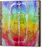 Rainbowbuddha Acrylic Print by Joan Doyle