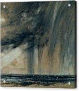 Rainstorm Over The Sea Acrylic Print by John Constable