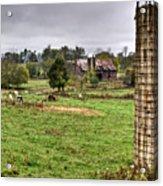 Rainy Day On The Farm Acrylic Print by Douglas Barnett