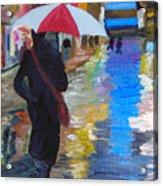 Rainy New York Acrylic Print by Michael Lee