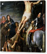 Raising The Cross Acrylic Print by Gaspar de Crayer