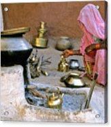 Rajasthani Woman Acrylic Print by Michele Burgess