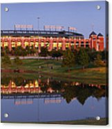Rangers Ballpark In Arlington At Dusk Acrylic Print by Jon Holiday