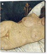 Reclining Female Nude Acrylic Print by Paula Modersohn-Becker