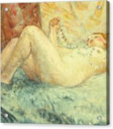 Reclining Nude Acrylic Print by Henri Lebasque