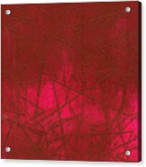Red Abstract Shapes Acrylic Print by Rockstar Artworks