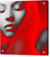 Red Beauty  Acrylic Print by Naxart Studio