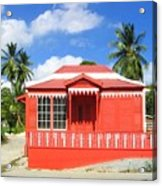 Red Chattel House Acrylic Print by Barbara Marcus