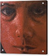 Red Face Acrylic Print by Ralph Papa