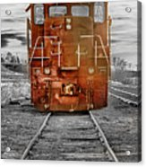 Red Locomotive Acrylic Print by James BO  Insogna