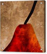 Red Pear IIi Acrylic Print by Carol Leigh