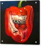 Red Pepper Oil Painting Acrylic Print by Natalja Picugina