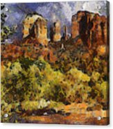 Red Rock Crossing Acrylic Print by Elaine Frink