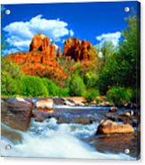 Red Rock Crossing Acrylic Print by Frank Houck