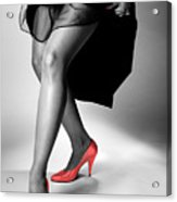 Red Shoes Acrylic Print by Jerry Taliaferro