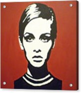 Red Twiggy Acrylic Print by Ruth Oosterman