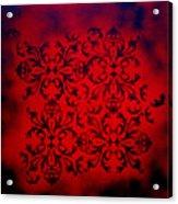 Red Velvet By Madart Acrylic Print by Megan Duncanson