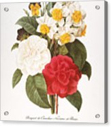 Redoute: Bouquet, 1833 Acrylic Print by Granger