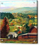 Reeds Farm Ithaca New York Acrylic Print by Ethel Vrana