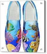 Reef Walkers Acrylic Print by Adam Johnson