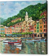 Reflections Of Portofino Acrylic Print by Charlotte Blanchard