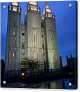 Reflective Temple Acrylic Print by Chad Dutson