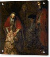 Return Of The Prodigal Son Acrylic Print by Rembrandt Harmenszoon van Rijn
