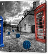 Revenge Of The Killer Phone Box  Acrylic Print by Rob Hawkins
