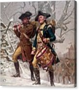 Revolutionary War Soldiers Marching Acrylic Print by War Is Hell Store