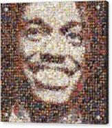 Rg3 Redskins History Mosaic Acrylic Print by Paul Van Scott