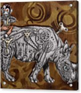 Rhino Mechanics Acrylic Print by Tai Taeoalii