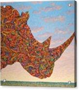 Rhino-shape Acrylic Print by James W Johnson